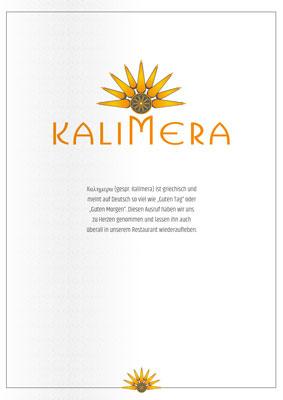 Kalimera Corona Speisen ab 01. November 2020